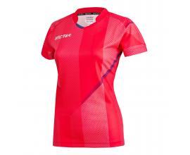 Victas / V-LADYSHIRT 220 Дамска тениска червено / синьо